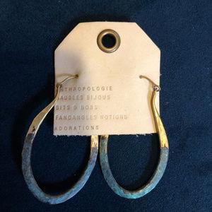 Anthropologie patina earrings